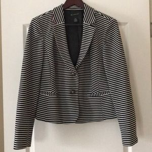 INC Black/White Stripe Blazer